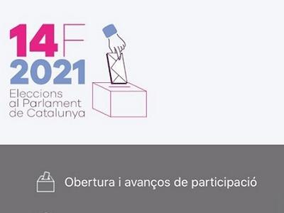 Captura de l'app Eleccions 14F, disponible per a Android i iOS.