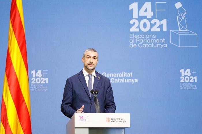 El conseller Bernat Solé, des del Centre de Difusió de Dades.