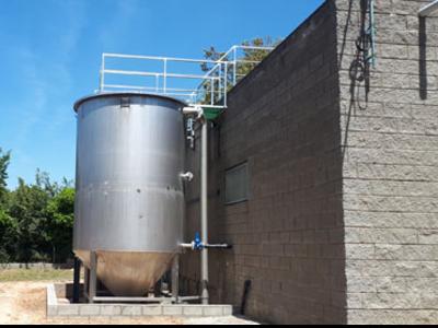 Planta d'eliminació de nitrats de la Pera (Baix Empordà), subvencionada per l'ACA (arxiu).