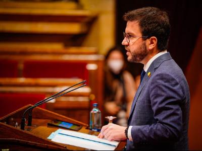 El vicepresident Aragonès, davant la Diputació Permanent del Parlament