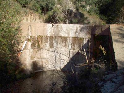 Pantà de la Font del Vern (Aiguafreda i Tagamanent).