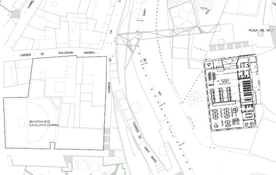 Plànol de situació de l'OAC dins del Centre Històric de Manresa