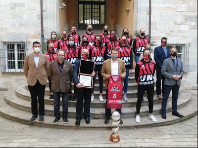 Imatge de la recepció de la Generalitat a l'Uni Girona