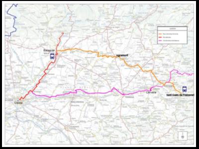 Mapa de la nova ruta ciclista