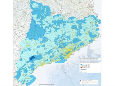 Mapa de la protecció envers la contaminació lumínica actualitzat amb la RESOLUCIÓ TES/651/2021, de 5 de març