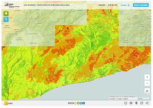 Foto web ICGC Geoíndex - Visor capacitat agrològica dels sòls