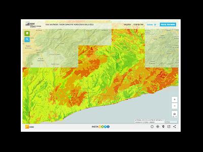 Miniatura ICGC Geoíndex - Visor capacitat agrològica dels sòls
