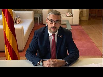 El conseller Bernat Solé, durant la seva intervenció en la reunió del CADS