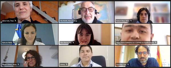 Captura de la reunió entre Catalunya i El Salvador.
