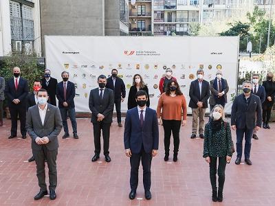 Foto de grup de la presentació de la primera OTT de l'esport català, l'