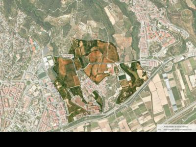 Àmbit de l'estudi i el futur pla de l'entorn de la Colònia Güell, a Santa Coloma de Cervelló i Sant Boi de Llobregat.