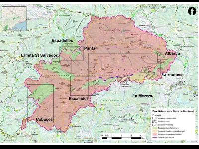 Mapa zones escalada