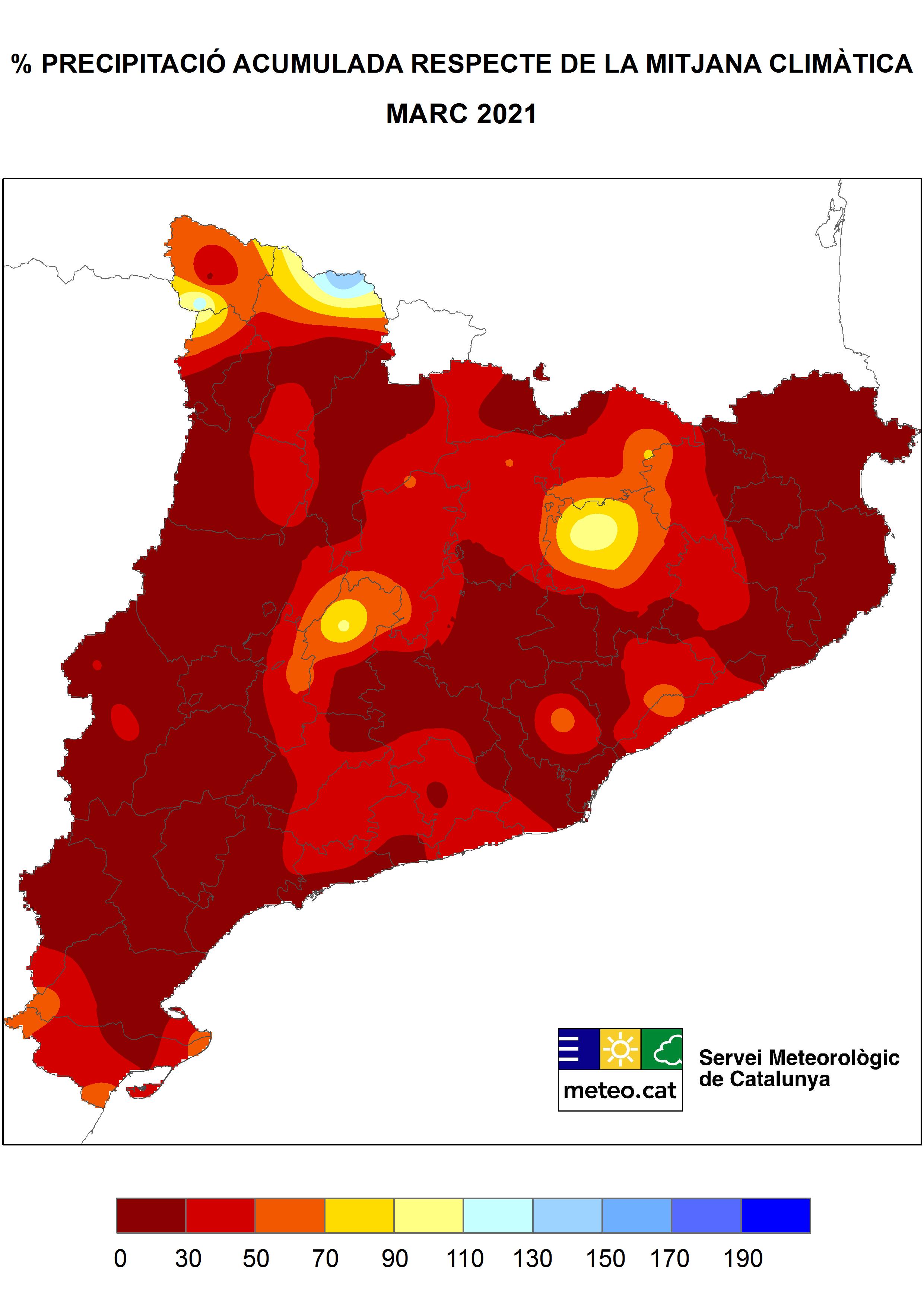 Mapa Anomalia de Precipitació