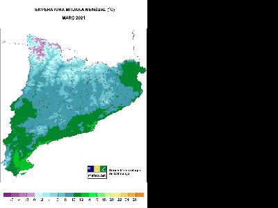 Mapa Temperatura Mitjana
