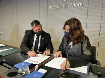 El Departament d'Interior signa amb l'Autoritat Portuària de Barcelona la renovació de l'adhesió de  a la xarxa RESCAT de Radiocomunicacions d'Emergències i Seguretat de Catalunya
