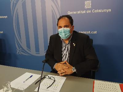 El director general de Relacions Laborals del Treball, Afers Socials i Famílies, Enric Vinaixa, en roda de premsa