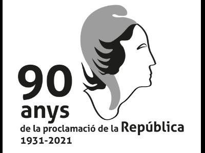 Logotip dels 90 anys de la Proclamació de la República
