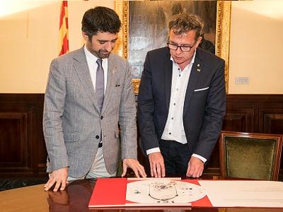 El conseller Puigneró i el president de la Diputació de Lleida, Joan Talarn