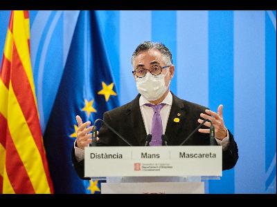 El conseller d'Empresa i Coneixement, Ramon Tremosa, durant roda de premsa