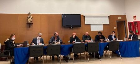 Moment de la reunió avui a Sant Carles de la Ràpita