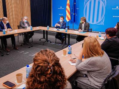 Reunió del vicepresident amb representants de col.legis professionals del sector de la salut de Catalunya