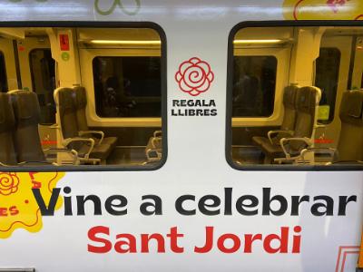 Tren d'FGC vinilat per Sant Jordi 2021