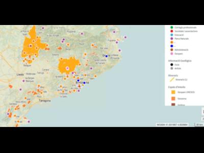 Mapa de localització de recursos informatius geològics