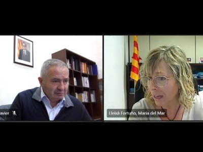 El delegat del Govern a les Terres de l'Ebre i la directora territorial de Salut valoren la situació de l'epidèmia per Covid19 a la Terra Alta