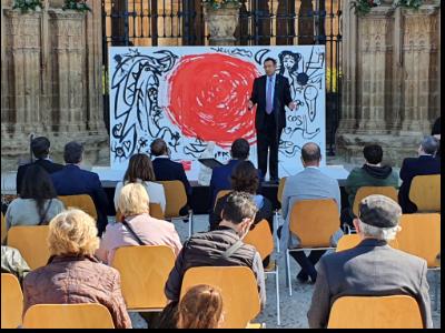 Ramon Faré en l'acte institucional Diada Sant Jordi Lleida