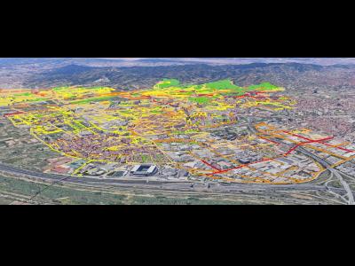 Mapa de l'indicador Ld de l'aglomeració del Baix Llobregat I