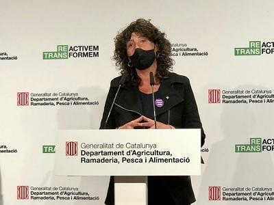 La consellera Teresa Jordà en un moment de la presentació