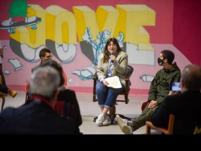 Laia Girós en la roda de premsa de presentació del congrés