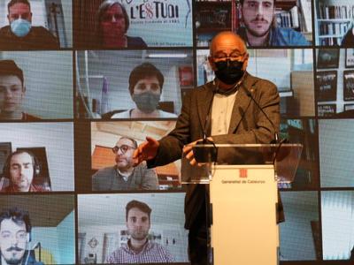 El conseller d'Educació, Josep Bargalló, presentant el nou cicle a l'Institut Martí i Franquès de Tarragona