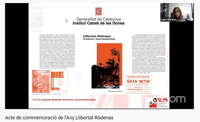 Imatge e la presentació del llibre Llibertat Ròdenas