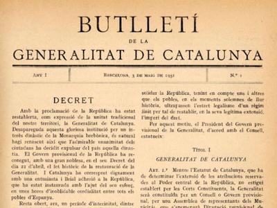 90 anys del 'Diari Oficial de la Generalitat de Catalunya' (1931-2021)