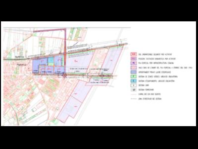 Nova ordenació dels sectors industrials de Golmés, amb la nova infraestructura viària.