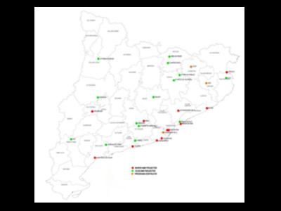 Projectes beneficiaris del ajuts de la setena convocatòria de la Llei de barris