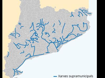 Mapa xarxes supramunicipals de Catalunya.