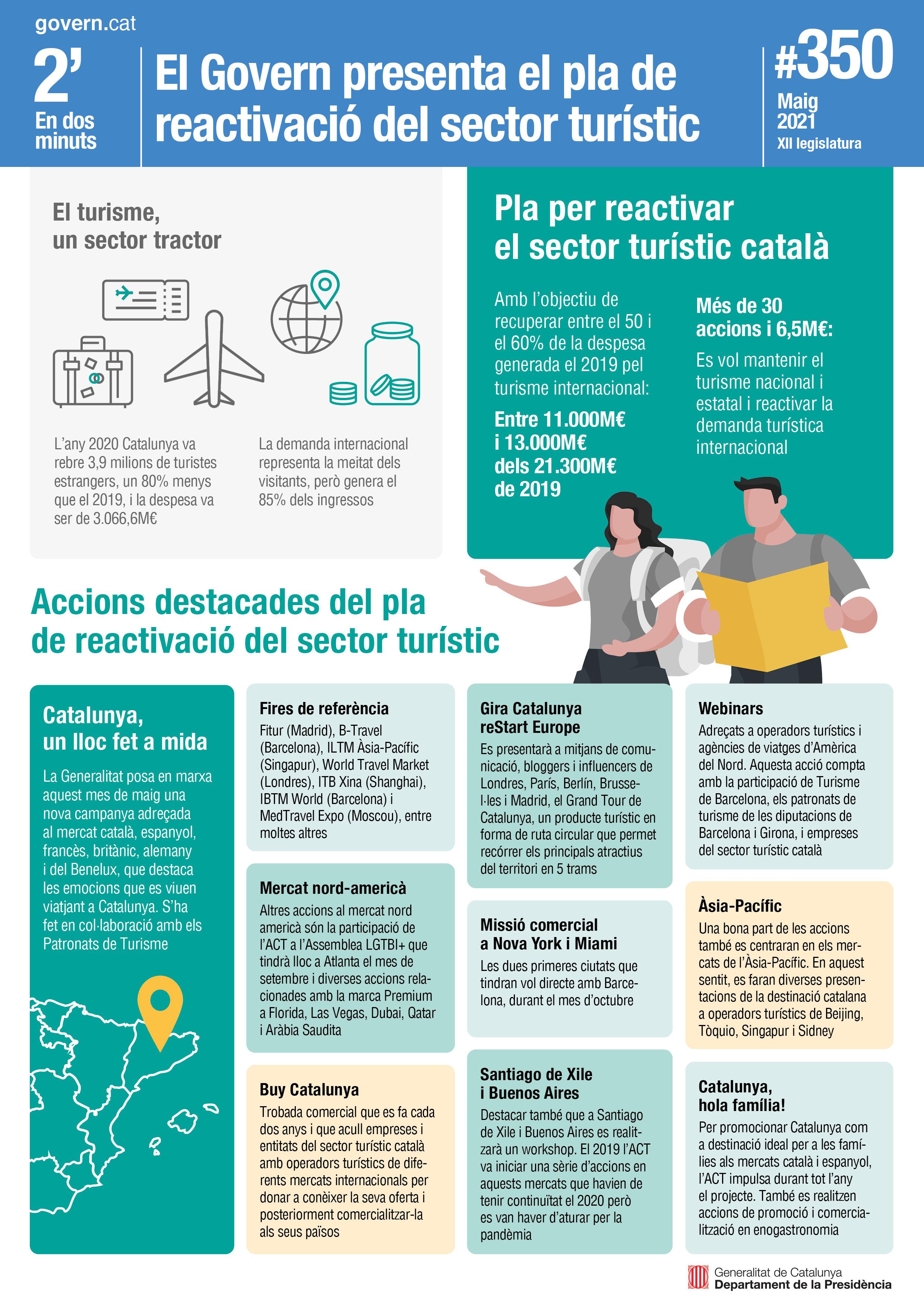 El Govern presenta el pla de reactivació del sector turístic