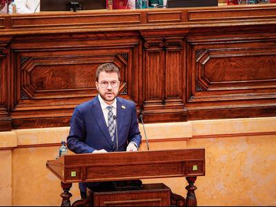 Fotografia de la intervenció del vicepresident al Ple del Parlament