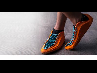 Sneakers II, de Recreus, realitzat amb impressió en 3D amb materials flexibles