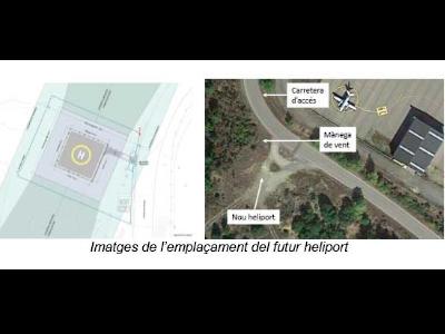 Imatge de l'emplaçament de l'heliport