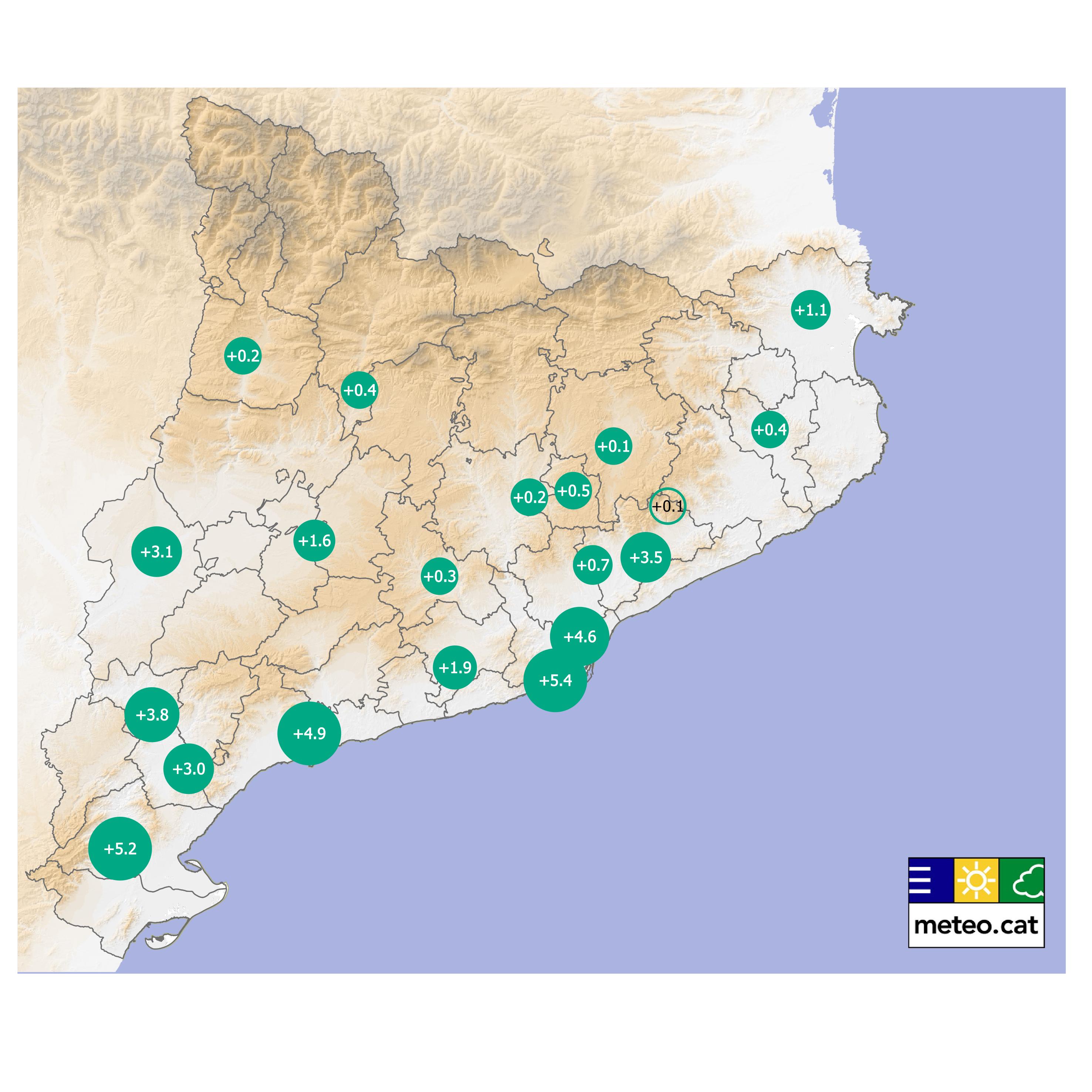 Mapa nombre dies nits tropicals