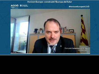 El conseller delegat d'ACCIÓ, Joan Romero, en el marc de l'Horizon Europe Week