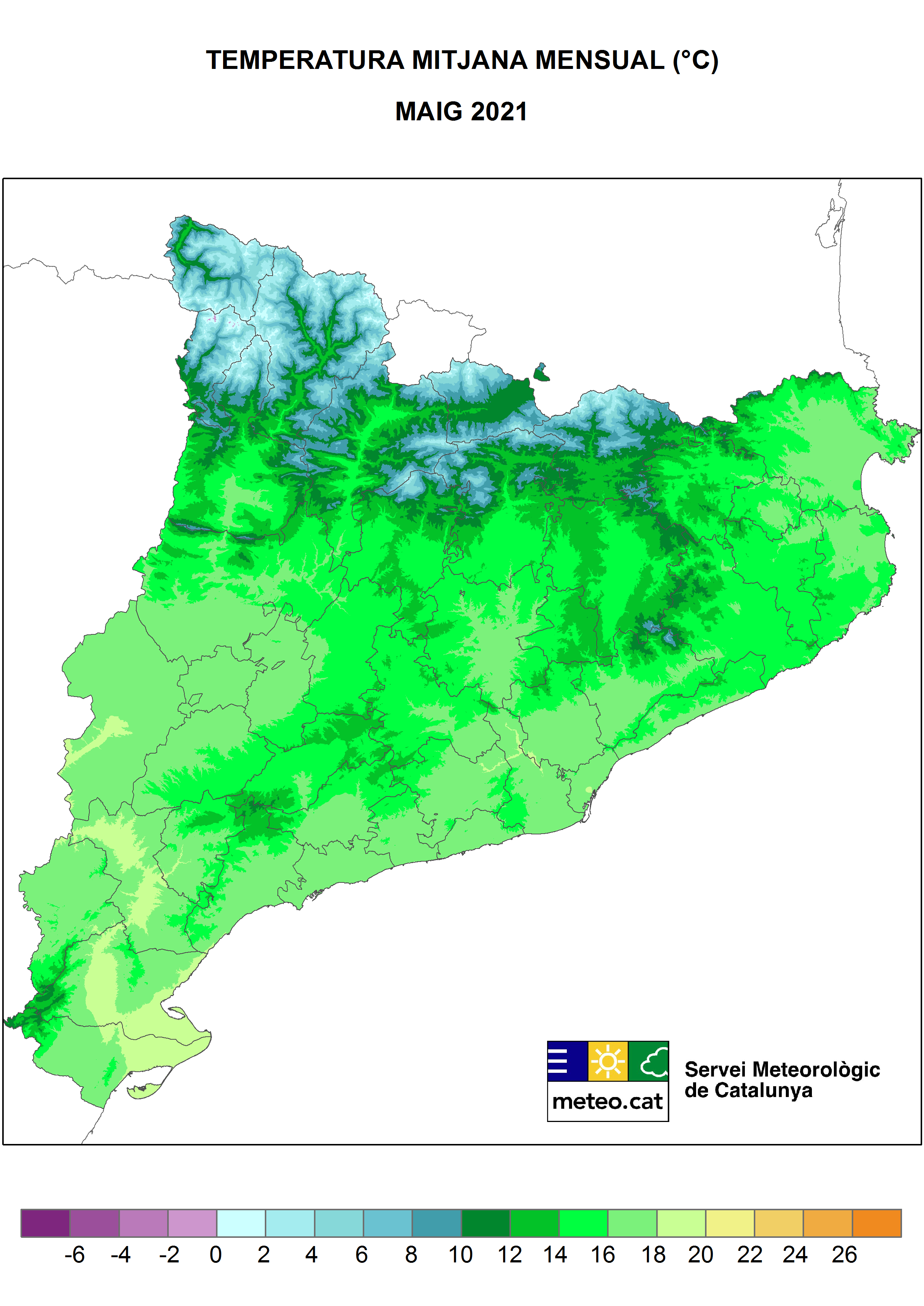 Mapa Temperatura mensual
