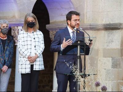 El president, en un moment de la seva intervenció. Autor: Paco Muñoz