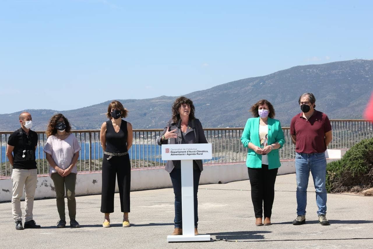Jordà presentant el pla de xoc per evitar la massificació dels parcs naturals
