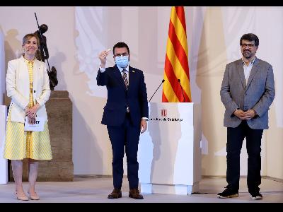 El president, en un moment de l'acte. Autor: Rubén Moreno