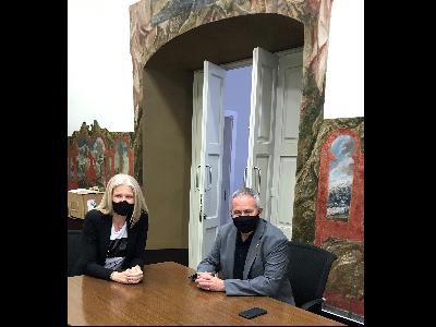 La secretària d'Economia, Matilde Villarrroya, en reunió amb el delegat del Govern a les Terres de l'Ebre