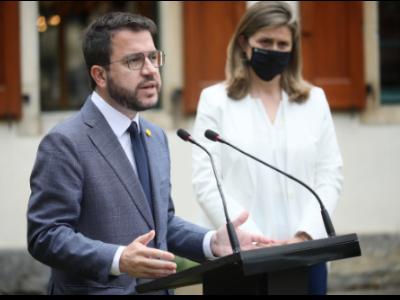 """President Aragonès: """"Obrim una nova etapa de cooperació institucional amb la Vall d'Aran, i reforcem el reconeixement de la seva realitat nacional"""""""